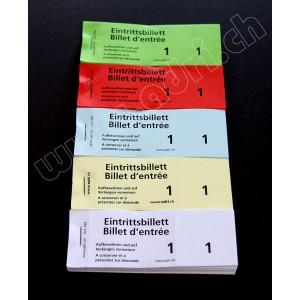 Eintrittsbillette in Blocks zu 100 Blatt  Nr.1-1000