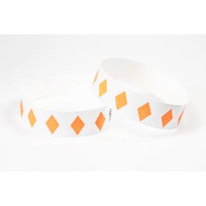 Tyvek Kontrollbänder Diamant neonorange