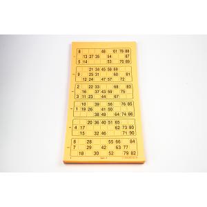 Lottokarten aus Papier Serie à 600