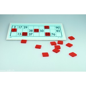 Abdeckplättli rot, viereckig  1000 Stück