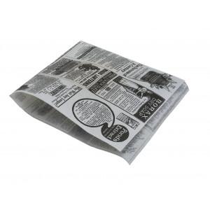 "Hamburgerbeutel  weiss, 17 x 18 cm  Pergament  mit Druck, ""TIMES"" (4'000 Stück)"