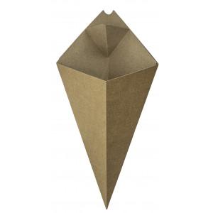 Snack-Tüte  braun, 279x168mm mit Dip-Ecke (1'200 Stück)