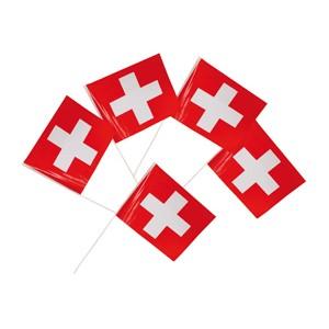 Plastikfähnchen Schweiz          5 Stück