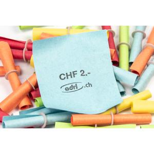 Röllchenlose Werteindruck: Wert CHF 2.-