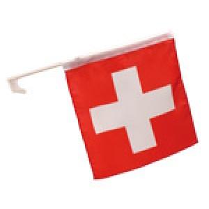 Autofahne Schweiz Set à 2 Stück