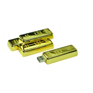 USB Stick (16GB) Goldbarren