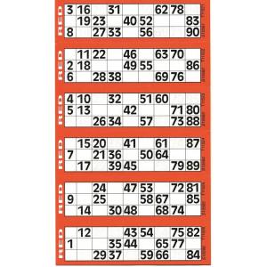 750 Jumbo Lottotickets, 125 Blatt à 6 Felder
