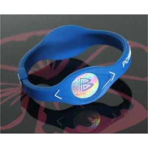 Power Balance Armband blau mit weisser Schrift