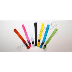 Stoffbänder neutral mit Schiebeverschluss (20 Stück)