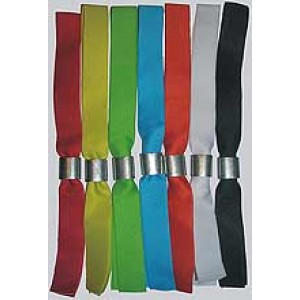 Stoffbänder neutral mit Aluverschluss (20 Stück)