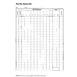 Karten-Kontrollblatt