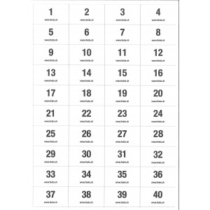Selbstklebe-Nummern ablösbar