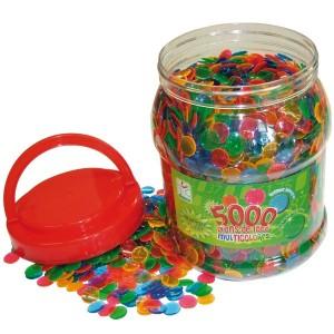 Abdeckplättli ø 15 mm, farbig gemischt, 5000 Stück