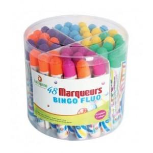 Schachtel mit 48 Fluo Markers