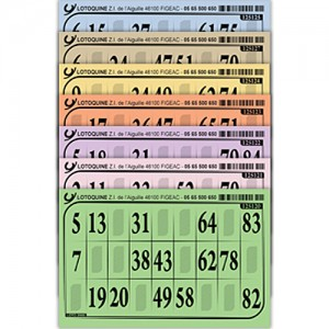 Grosse Lottokarte