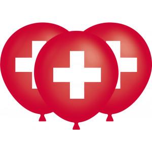 Ballone mit Schweizerkreuz 10 Stück