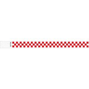 Tyvek Kontrollbänder Checkpoint rot
