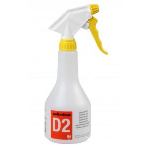 D2 Schnelldesinfektion 500 ml Sprühflasche leer mit gelbem Gewinde