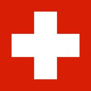 Dekorfahne Schweiz 100x100 cm