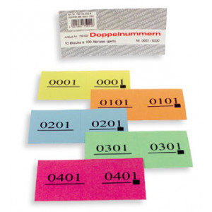 Doppel-Nummern-Block Nr. 1001 - 2000