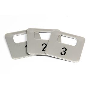 Garderobenmarken aus Aluminium 1-200