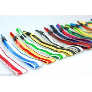 2-farbige Stoffbänder neutral mit Schiebeverschluss (20 Stück)