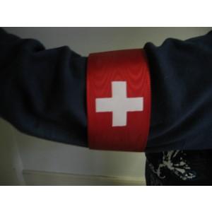 Armbinde rot mit Schweizerkreuz