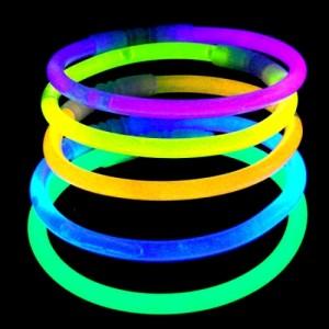 Knicklicht Armringe, Leuchtarmbänder, 2er-Set