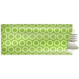 Besteckbeutel mit Serviette, grün (1.000 Stück)