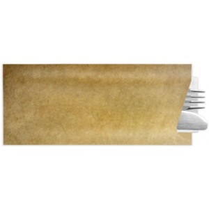 Besteckbeutel mit Serviette, braun (1.000 Stück)
