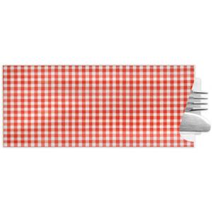 Besteckbeutel mit Serviette, rot (350 Stück)