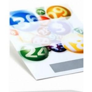 Rubbellose Lottodesign nummeriert 50 Stück