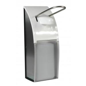 Spender 500ml transparent aus Kunststoff und Chromstahl