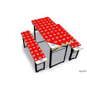 Star-Tisch Swiss Edelweiss 4 Sitzplätze