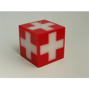 Kerze Swisscube 90x90x90mm