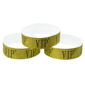 Tyvek Kontrollbänder VIP gold