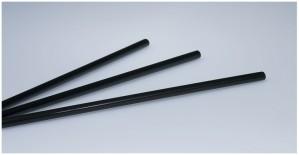 Trinkhalme schwarz (250 Stück)
