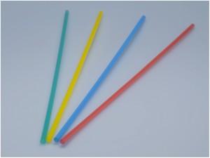 Trinkhalme farbig 60 cm (100 Stück)