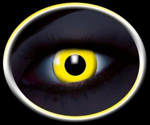 Kontaktlinsen UV gelb