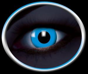Kontaktlinsen UV blau