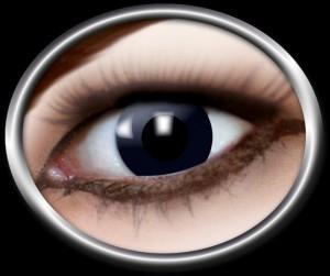 Kontaktlinsen schwarze Hexe