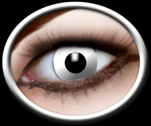 Kontaktlinsen weisser Zombie