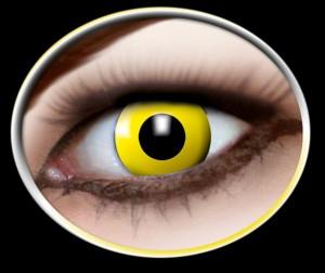 Kontaktlinsen gelbe Krähe