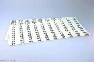 Selbstklebe-Nummern (100 Nummern)